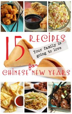 15 Recipes to Celebrate Chinese New Year! From favfamilyrecipes.com #chinesenewyear #chinesefood #asian #recipes