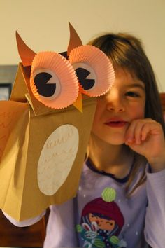 Spark and All: FIAR - Owl Moon - Paper Bag Owl Puppet