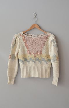 hand knit silk sweater