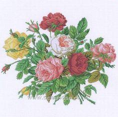 roses crossstitch sewandso.co.uk