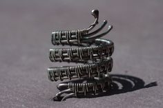 Snake Stack Ring, Four Wrap Ring Silver Stack Ring Silver Snake Ring Sterling Silver Ring Hand Wrapped Ring Oxidised Blackened Ring by BaileyBespoke on Etsy