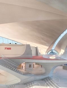 TWA Hotel: Minimalism at JFK Airport – Minimalistme Twa Flight Center, Collage Pictures, Airport Hotel, Eero Saarinen, Architectural Styles, Light And Space, Atomic Age, 20th Birthday, Good House
