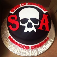 SOA - Sons of Anarchy cake!