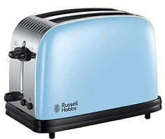 Russell Hobbs 23335 Colours Plus 2-Slice Toaster, 1200 W, Heavenly Blue Best Waffle Maker, Electric Toaster, Stainless Steel Toaster, Sandwich Toaster, Smoothie Makers, Cord Storage, Best Sandwich, Good Find