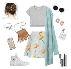 """""""Transitioning into fall"""" by serena-rupp ❤ liked on Polyvore featuring Monki, Converse, Patchington, Una-Home, Casetify, Anabela Chan, HoneyBee Gardens and Bobbi Brown Cosmetics"""