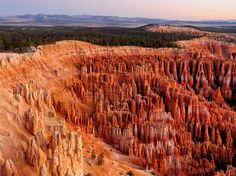 Bryce Canyon in southwestern Utah is home to brightly colored geological structures called hoodoos, formed by frost, weathering, and erosion