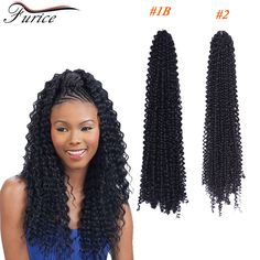 18inch Water Wave Crochet Curly Hair Marley Braids Ombre Top Quality Synthetic Braiding Weaving