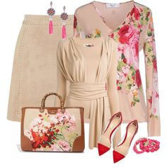 In honor of spring for this contest I would like to see your beautiful outfits include a floral or floral embellished cardigan. Work Fashion, Modest Fashion, Fashion Dresses, Fashion Looks, Classy Outfits, Pretty Outfits, Chic Outfits, Business Casual Attire, Complete Outfits