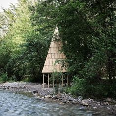 Festival organiser Philippe Burguet picks nine of his favourite wooden structures from this year's Cabin Festival. Lake Annecy, Annecy France, Wooden Cabins, Cabin Design, Light Photography, Places Around The World, Types Of Wood, Pavilion, Architecture