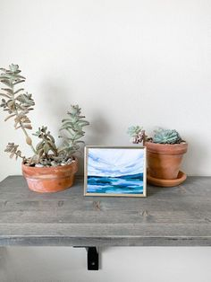 Put artwork in your office! I know that so many of us work at desks for way longer then we would like every day, so why not make is a place you love? Interior Design Work, Modern Office Design, Beautiful Interior Design, Love Painting, Painting Frames, Small Paintings, Small Art, Minimalist Living, Simple House