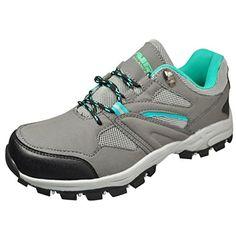 Air Balance Girls Grey/Teal Hiking Shoes * For more information, visit image link.