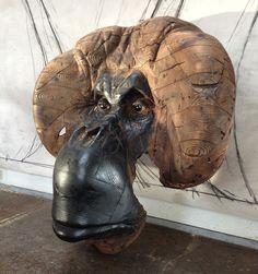 "Quentin Garel, Orang-outan (Unique), 2014, Wood & Polychrome, 59"" x 59"" x 27½"" #Art #Contemporary #Sculpture #BDG #BDGNY"
