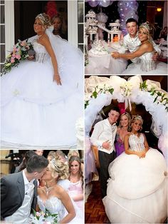Cheyenne and John-my favorite gypsy wedding couple Wedding Couples, Wedding Bride, Dream Wedding, Wedding Ideas, Wedding Dresses, My Big Fat Gypsy Wedding, Fake Tan, Fish Ponds, Gypsy Style
