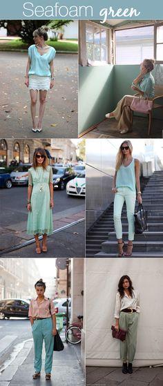 Seafoam green!! Cor linda!
