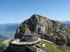 At the top of Mt. Pilatus in Switzerland. I can't wait!