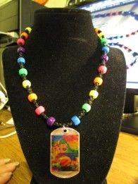 Alphabet Anarchy with rainbow beads