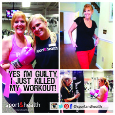 Kit, a Sport&Health member (and breast cancer survivor!), has lost 40 pounds with the help of her personal trainer, Nathalie. Way to go, Kit!