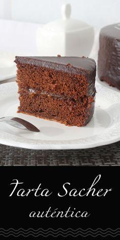 Sweet Recipes, Cake Recipes, Dessert Recipes, Sacher Cake Recipe, Coffee Shop Menu, German Desserts, Pastry Cake, Chocolate Cake, Cupcake Cakes
