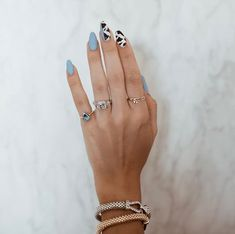 cute nails are readily available on our internet site. Cow Nails, Aycrlic Nails, Hair And Nails, Summer Acrylic Nails, Best Acrylic Nails, Summer Nails, Minimalist Nails, Nail Swag, Nagellack Trends
