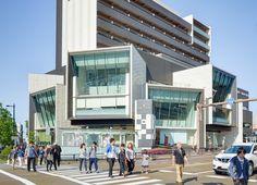 Le Cube Kanazawa (ル・キューブ金沢)   Architect : Yamashita Sekkei (設計:山下設計). Contractor : Takenaka Corporation (施工:竹中工務店). Completed : April 2014 (竣工:2014年4月). Floor : 3rd (階数:3階) Location : 1-1 Fukuromachi, Kanazawa City, Ishikawa, Japan (所在地:日本国石川県金沢市袋町1−1).