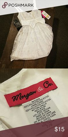 Junior dress Very pretty white/ivory dress with zipper back Morgan & Co. Dresses Prom