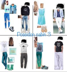 Poseidon cabin 3 Percy Jackson Cabins, Percy Jackson Fan Art, Percy Jackson Memes, Percy Jackson Fandom, Nerd Outfits, Fandom Outfits, Themed Outfits, Cool Outfits, Inspired Outfits