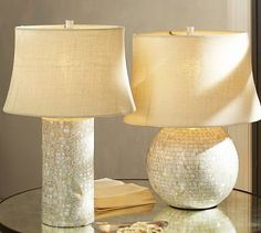 Mother-of-Pearl Table Lamp Bases #potterybarn