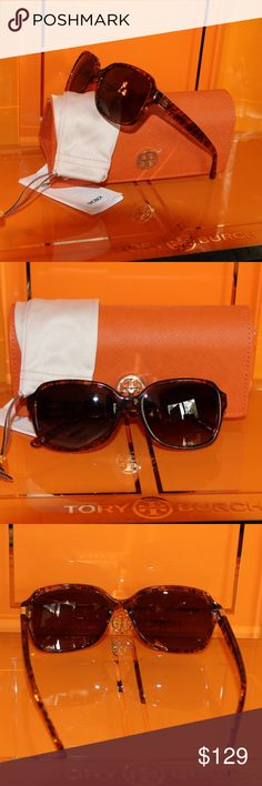 NWT Tory Burch TY 7098 Horn Polarized Sunnies Time for some new fabulous authentic designer shades!! TY7098 1615T5 55 Lens POLARIZED GRADIENT BROWN Frame TRANSPARENT HORN BRN These are PERFECT Flawless NEVER even worn or tried on. It's just reflections that might make they look like there are issues, they are again Perfect! Comes with original bag with tags from Luxottica, case and dust bag. All of my items are Guaranteed 100% Genuine I do not sell FAKES of any kind No Trades (006S065) Tory…