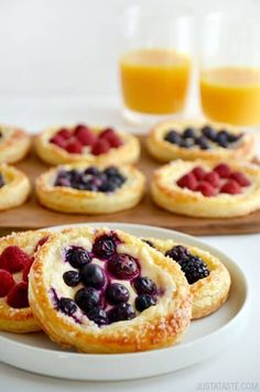 Fruit and Cream Cheese Breakfast Pastries | recipe via justataste.com