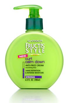 fructis curl calm down - i use this every day and i love the way my curls look loose and soft and not crunchy.