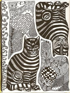 trippy cat art