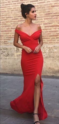 Sexy Mermaid Off Shoulder Red Side Slit Long Prom Dresses, Shop plus-sized prom dresses for curvy figures and plus-size party dresses. Ball gowns for prom in plus sizes and short plus-sized prom dresses for Elegant Prom Dresses, Cheap Prom Dresses, Prom Party Dresses, Occasion Dresses, Formal Dresses, Dress Prom, Wedding Dresses, Graduation Dresses, Prom Gowns