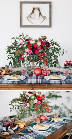 5 Styling Tips for a Pretty Plaid Tablescape