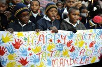 Children at Batsogile Primary School in Soweto sing happy birthday to former South African President Nelson Mandela as he turns 94 African Nations, Singing Happy Birthday, Good Deeds, Nelson Mandela, Photojournalism, Primary School, Helping Others, Presidents, In This Moment