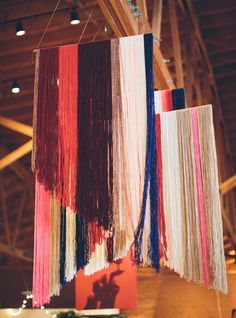 yarn hangings are oh so pretty