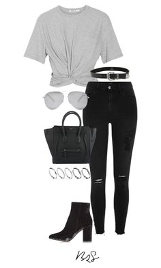 """""""#842"""" by blendingtwostyles ❤ liked on Polyvore featuring T By Alexander Wang, River Island, Gianvito Rossi, B-Low the Belt, Victoria Beckham and ASOS"""