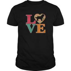 Bernedoodle Dog Lover Bernese Mountain Dog Poodle Dog T shirt - Bernedoodle Dog Lover uses the famous LOVE template and uses colorful paw prints inside the text. Then the big heart features a transparent Bernedoodle silhouette so your garment color shows through.  #Bernese Mountain Dog #Bernese Mountain Dogshirts #iloveBernese Mountain Dog # tshirts