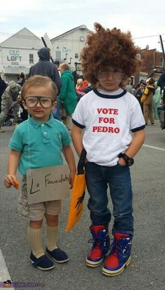 Kids Napoleon Dynamite vote for Pedro Kip costume, Best Halloween costumes for k… - Kids costumes Family Halloween Costumes, Halloween Kids, Halloween Party, Group Halloween, Halloween 2020, Halloween Decorations, Halloween College, Halloween Office, Halloween Recipe