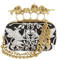 Chained dagger skull knucklebox clutch