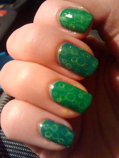 Green Watercolor Nails