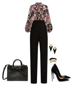 """7815"" by rachd on Polyvore featuring Jill Stuart, Lanvin, Christian Louboutin, Michael Kors and Yves Saint Laurent"