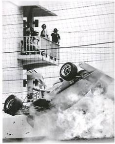 Young Tom Sneva crashes during the 1975 Indy 500. I still remember this crash like it was yesterday, watching it on TV.