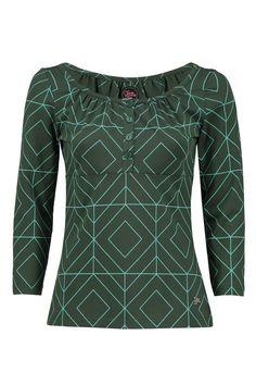 Tante Betsy Shirt Luna Grafisch Green groen graphic