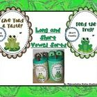 FREE!! Frog and Toad: Sort Long and Short Vowel Words  Kindergarten, first grade, special education, RTI, homeschool. FUN!!