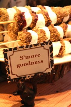 S'mores Kebabs!! Might have to make something like this for the fire pit.
