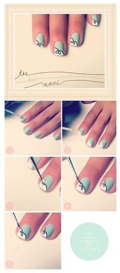 5 Gorgeous & Easy Nail Art Tutorials 2013/ 2014 For Beginners & Learners