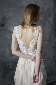 Ready to ship   Blush wedding dress  Lobelia  Open back bridal gown 4b598ea1b
