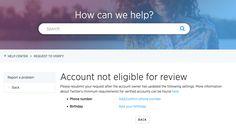 Twitter Verifizierung von Accounts