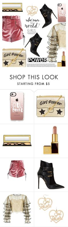 """Girl Power"" by crr-team ❤ liked on Polyvore featuring Casetify, MAC Cosmetics, Tom Ford, self-portrait, Balmain, HUISHAN ZHANG and Forever 21"