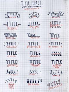 Resultado de imagen de letras para apuntes bonitos